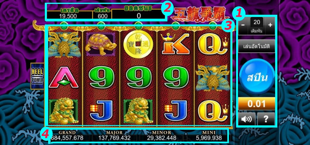 สล็อต 5 Dragons Sexygamez