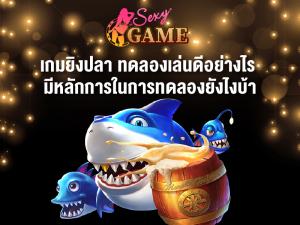 เกมยิงปลาทดลองเล่น - sexygamez.net